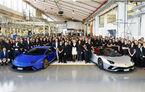 Sărbătoare în Italia: Lamborghini a produs 7.000 de unități Aventador și 9.000 de exemplare Huracan