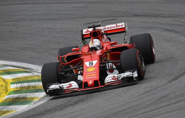 Vettel a câștigat cursa de la Interlagos în fața lui Bottas și Raikkonen. Hamilton, locul 4 după ce a plecat din pitlane - Poza 1