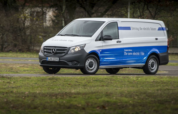 Mercedes pregătește versiuni electrice pentru toate vehiculele comerciale: Mercedes eVito va avea autonomie de 150 de kilometri - Poza 1