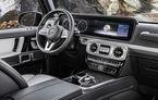 Primele imagini cu interiorul noii generații Mercedes Clasa G: două ecrane de 12 inch și 15 cm în plus pentru pasagerii spate