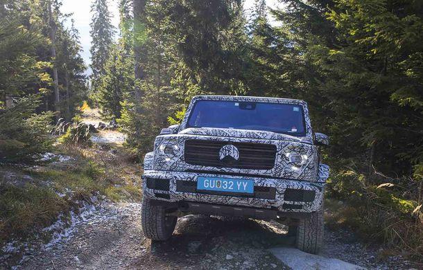 Fotografii din timpul testelor: noua generație Mercedes-Benz Clasa G va avea un mod special pentru momentele dificile din off-road - Poza 9