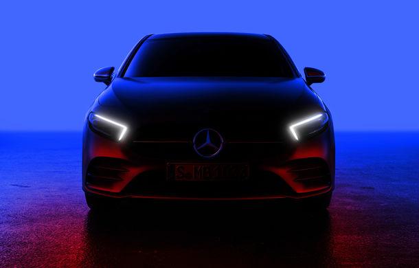Prima imagine cu noua generație Mercedes Clasa A: designul exterior, dezvăluit parțial înainte de lansarea din 2 februarie - Poza 1