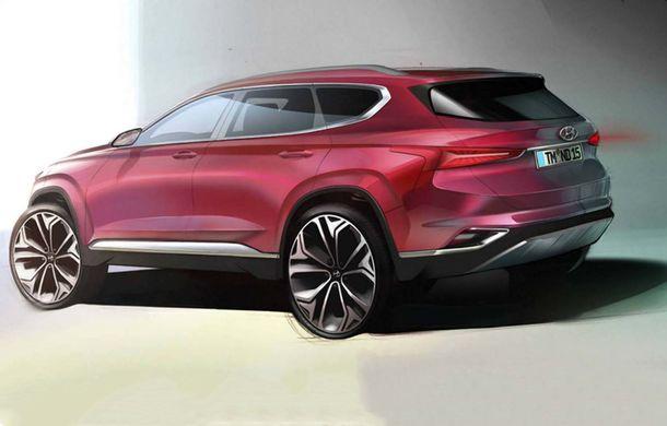 Noua generație Hyundai Santa Fe: primele schițe oficiale cu modelul care debutează în februarie - Poza 2