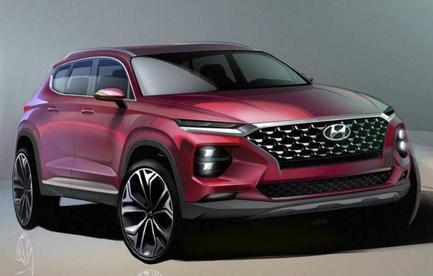 Noua generație Hyundai Santa Fe: primele schițe oficiale cu modelul care debutează în februarie - Poza 1