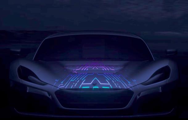 Teaser nou pentru Rimac Concept Two: croații promit că viitorul hipercar electric va rula complet autonom, însă prezența șoferului este necesară pentru orice eventualitate - Poza 1