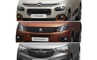 Generație nouă pentru Peugeot Partner, Citroen Berlingo și Opel Combo: producția celor trei utilitare din grupul PSA va începe în câteva săptămâni