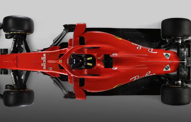 Ferrari dezvăluie monopostul cu care vrea să câștige primul titlu în Formula 1 după 10 ani: noutăți aerodinamice și modificări la suspensii - Poza 2