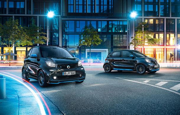 Modelele electrice din gama Smart intră în marea familie a sub-brandului EQ: au fost lansate edițiile speciale EQ Fortwo și EQ Forfour NightSky - Poza 1
