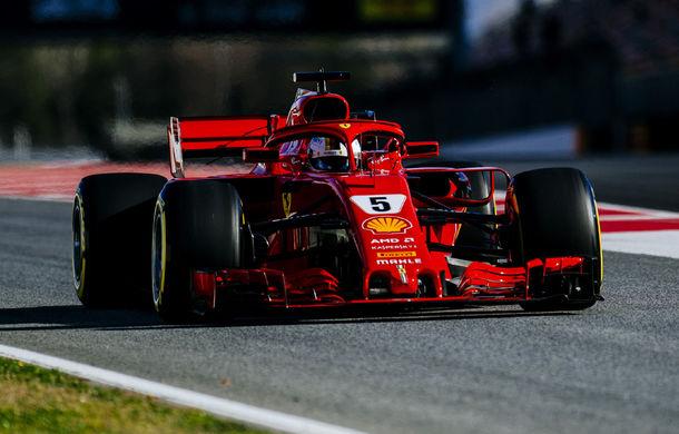 Ferrari începe cu dreptul a doua sesiune de teste de la Barcelona: Vettel, cel mai rapid în prima zi. Defecțiuni tehnice pentru McLaren - Poza 1