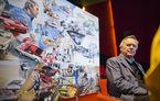O viață în 15 panouri: Jochen Neerpasch, legenda motorsportului BMW, a fost prezent în România la dezvelirea unei picturi dedicate carierei sale