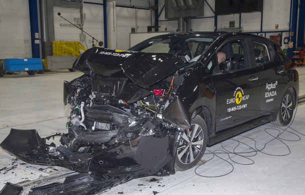 Noua generație Nissan Leaf, 5 stele la Euro NCAP: teste mai dure pentru protecția pietonilor și bicicliștilor - Poza 1