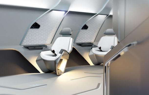 Exercițiu de imaginație: BMW dezvăluie designul interior al capsulei Hyperloop care va transporta pasageri cu peste 1000 km/h - Poza 2