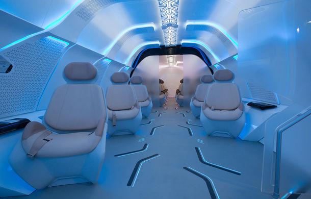 Exercițiu de imaginație: BMW dezvăluie designul interior al capsulei Hyperloop care va transporta pasageri cu peste 1000 km/h - Poza 1