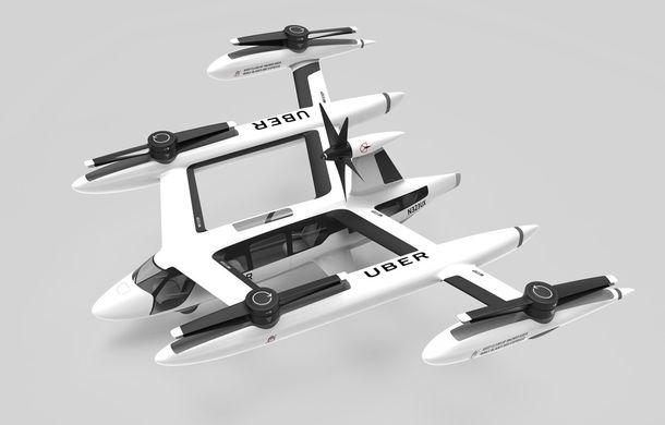 """Uber prezintă o nouă versiune a """"taxiului zburător"""": lansarea este programată pentru 2023 - Poza 2"""