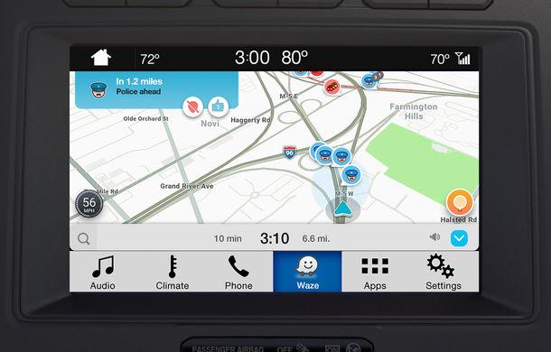 Ford proiectează Waze pe sistemul de infotainment al mașinii pentru utilizatorii iPhone - Poza 4