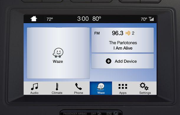 Ford proiectează Waze pe sistemul de infotainment al mașinii pentru utilizatorii iPhone - Poza 2
