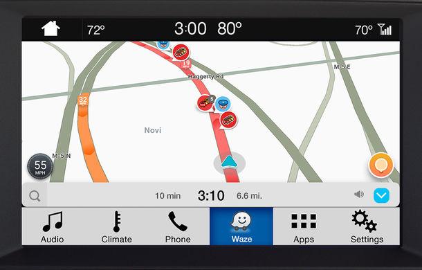 Ford proiectează Waze pe sistemul de infotainment al mașinii pentru utilizatorii iPhone - Poza 6