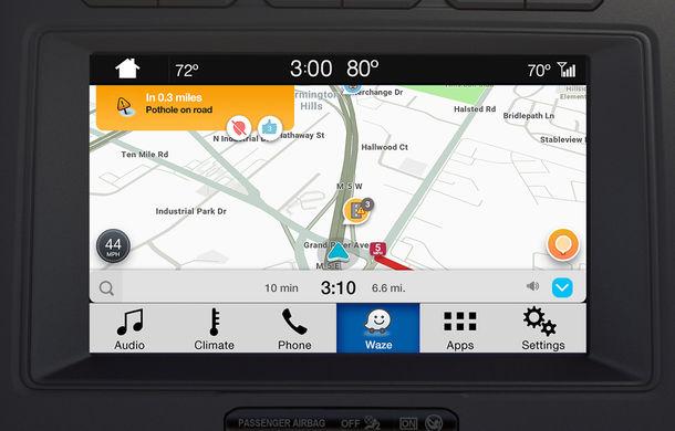 Ford proiectează Waze pe sistemul de infotainment al mașinii pentru utilizatorii iPhone - Poza 1