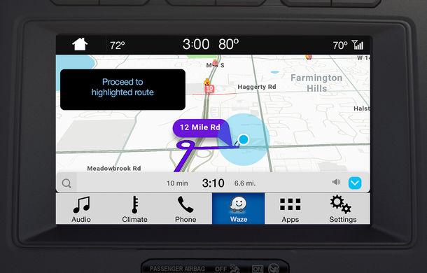 Ford proiectează Waze pe sistemul de infotainment al mașinii pentru utilizatorii iPhone - Poza 3