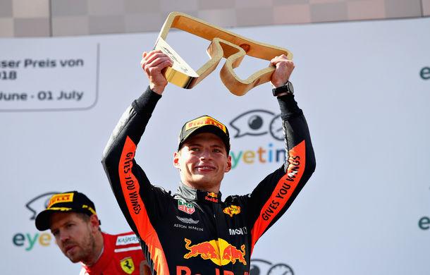 """Verstappen sugerează că va lupta pentru titlul mondial după victoria din Austria: """"Nu ne dăm bătuți niciodată"""" - Poza 1"""