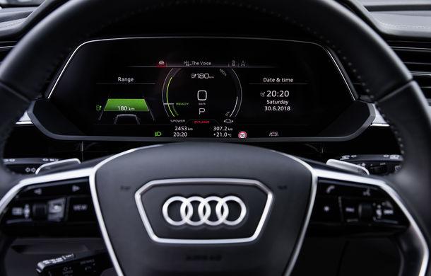 Primele imagini cu interiorul lui Audi e-tron: SUV-ul electric are 5 ecrane, dintre care două pentru camerele care înlocuiesc oglinzile - Poza 10