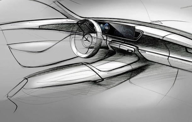 Primele schițe cu interiorul noii generații Mercedes GLE: SUV-ul va avea două ecrane de 12.3 inch - Poza 3