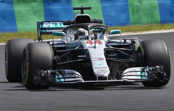 Hamilton, pole position pe ploaie în Ungaria în fața lui Bottas! Raikkonen și Vettel ocupă a doua linie a grilei - Poza 1