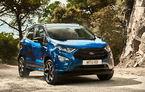 Vânzările Ford în Europa: creștere de 110% pentru EcoSport în iulie. SUV-urile reprezintă peste 20% din vânzările constructorului