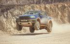 Ford Ranger Raptor ajunge în Europa: versiunea de performanță a pick-up-ului are motor de 213 CP și cutie de viteze automată cu 10 trepte