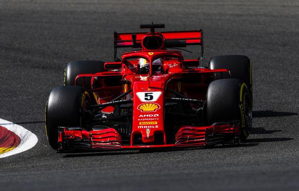Vettel și Raikkonen, cei mai rapizi în antrenamentele din Belgia. Bottas și Hulkenberg vor pleca de pe ultima linie a grilei de start - Poza 1
