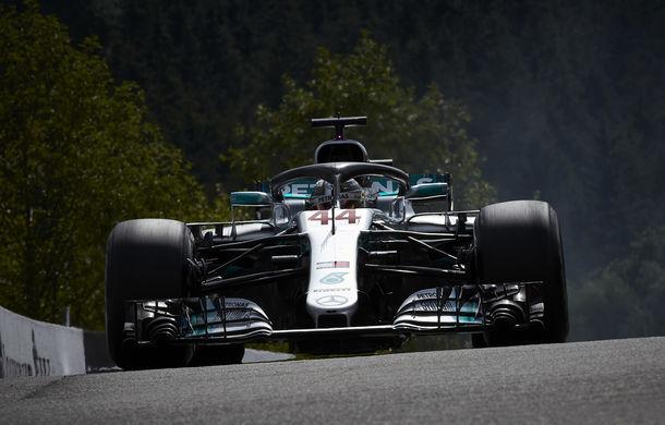 Hamilton, pole position pe ploaie la Spa-Francorchamps! Vettel pe locul 2, piloții Force India în linia a doua a grilei de start - Poza 1