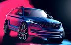 Skoda Kodiaq RS, dezvăluit în schițe oficiale: SUV-ul de performanță va avea motor diesel de 240 de cai putere