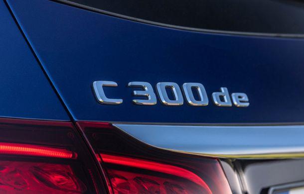 Detalii despre versiunea Mercedes-Benz C300de: plug-in hybrid diesel-electric cu 306 CP și autonomie electrică de până la 57 de kilometri - Poza 27