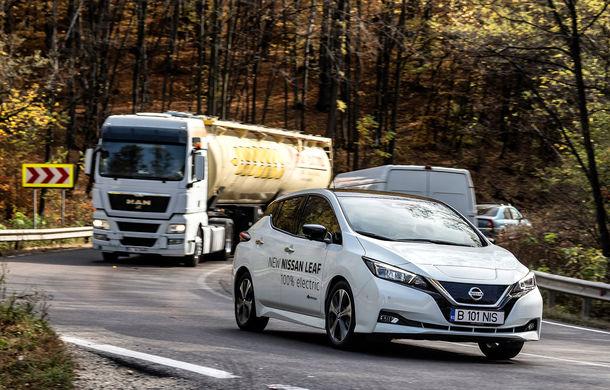 #ElectricChallenge: Nissan Leaf a parcurs București-Sibiu cu un singur plin al bateriei - Poza 1