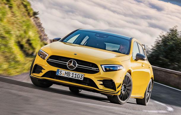 """Viitoarea generație Mercedes-AMG A45, surprinsă în haine de camuflaj: """"Drift Mode"""" pentru noul Hot Hatch de peste 400 CP - Poza 1"""