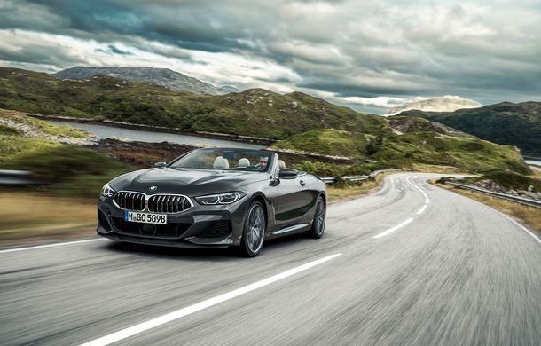 BMW Seria 8 Cabrio, poze și informații oficiale: motorizări de până la 530 CP și 15 secunde pentru plierea plafonului din material textil - Poza 3