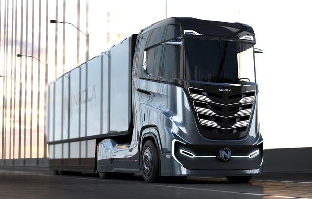 Primele teasere cu Nikola Tre: capul tractor alimentat cu hidrogen cu autonomie de 1.200 kilometri apare în Europa în 2023 - Poza 1