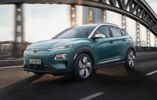Hyundai Kona Electric, cea mai bună autonomie într-un test comparativ: SUV-ul electric a surclasat Jaguar I-Pace și Kia e-Niro - Poza 1