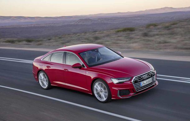 Viitorul Audi S6, spionat în apropiere de Nurburgring: modificări minore de design și motor de 450 CP - Poza 1