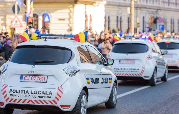 Mașini electrice, cumpărate de Primăria Cluj-Napoca: trei Renault Zoe au intrat în flota Poliției Locale - Poza 1