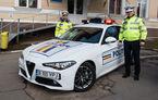 Poliția Rutieră Ilfov a primit un Alfa Romeo Giulia: modelul italian va patrula 12 luni pe autostrada A3, Drumul Național 1 și Centura Bucureștiului