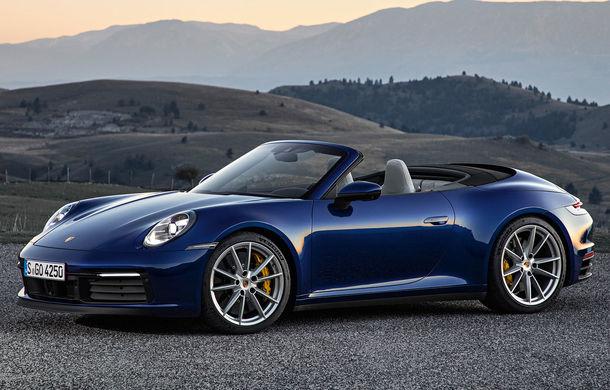 Porsche 911 Cabrio, imagini și informații oficiale: motor de 450 CP și 12 secunde pentru plierea plafonului din material textil - Poza 1