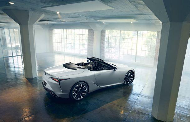 Primele imagini cu Lexus LC Convertible Concept: prototipul niponilor va fi expus la Detroit și anunță o versiune de serie - Poza 7