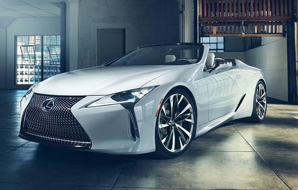 Primele imagini cu Lexus LC Convertible Concept: prototipul niponilor va fi expus la Detroit și anunță o versiune de serie - Poza 1