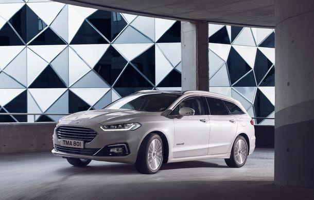 Ford Mondeo facelift, poze și informații oficiale: modificări minore la nivel estetic, motorizări îmbunățățite și versiune hibrid pe varianta break - Poza 5