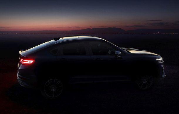 Primele imagini cu SUV-ul coupe Geely: platformă comună cu Volvo XC40 și același motor pe benzină cu 247 CP - Poza 5