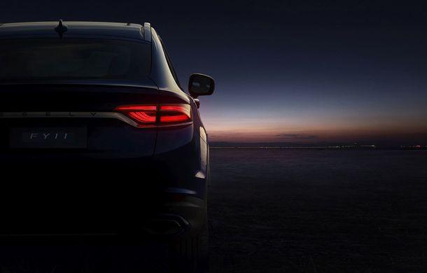 Primele imagini cu SUV-ul coupe Geely: platformă comună cu Volvo XC40 și același motor pe benzină cu 247 CP - Poza 6