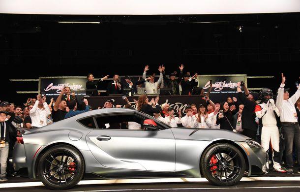 Primul exemplar din noua generație Toyota Supra, vândut cu 2.1 milioane dolari la licitație: banii vor fi donați în scopuri caritabile - Poza 1