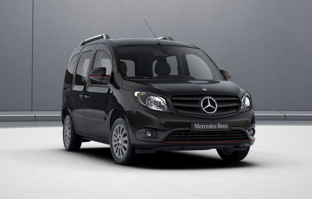 Îmbunătățiri pentru Mercedes-Benz Citan Tourer: utilitara de persoane primește un motor nou de la Renault și un pachet estetic sportiv - Poza 1