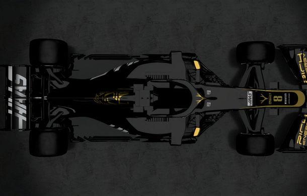 Haas, prima echipă care prezintă monopostul de Formula 1 pentru sezonul 2019: americanii vor concura în negru și auriu - Poza 6